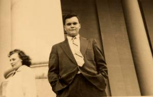 Toole in Washington, DC. May 1954. Courtesy of Louisiana Research Collection, Tulane University.  Edited by Joseph Sanford.