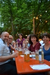 The Stetters and Obernauers in a Laupheim beer garden